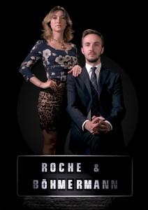 """Charlotte Roche und Jan Böhmermann moderieren gemeinsam die """"Gesprächssendung"""", die ihren Namen trägt. (Foto: ZDF/Phillippe Fromage)"""